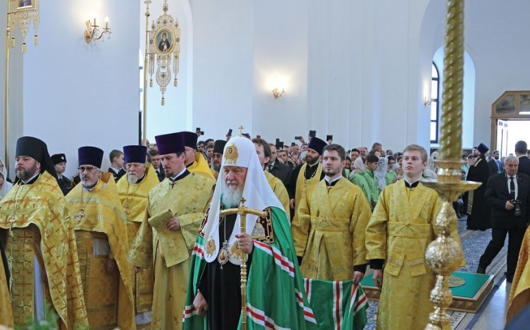 Патриарх Кирилл освятил Успенский собор в Брянске