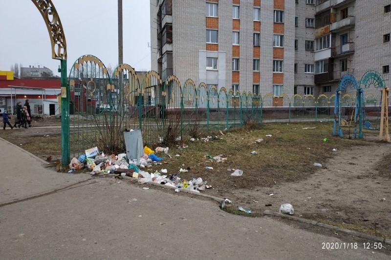В мусорную свалку в Брянске превратили детский городок
