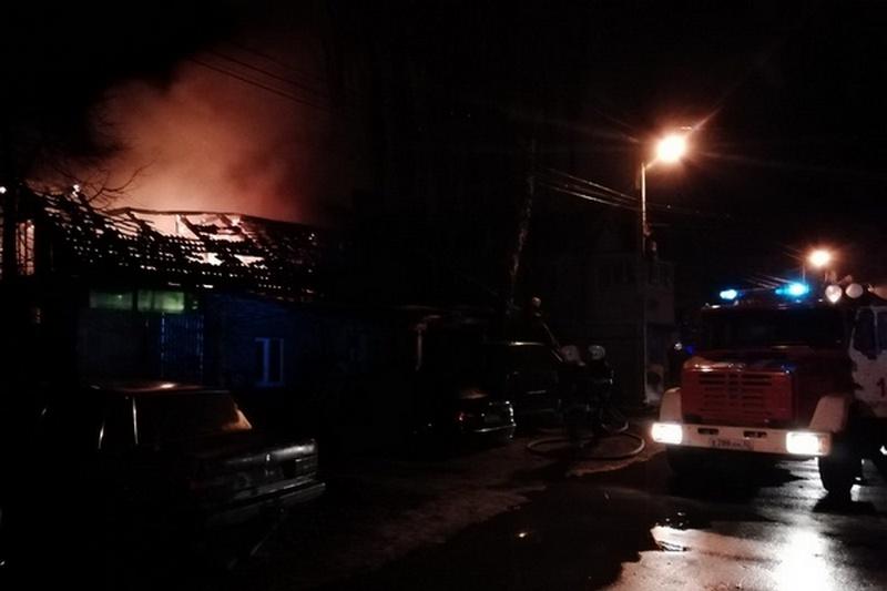 Под Новозыбковом при пожаре пострадал человек