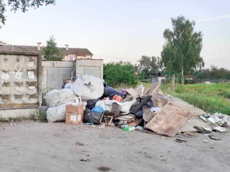 В Ходаринке нашли устроителей мусорных завалов на переулке Загородном