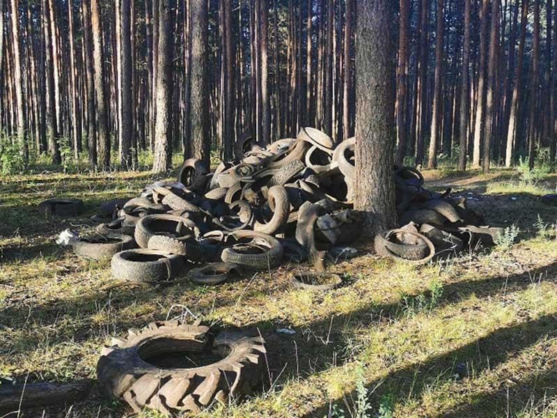 Кладбище старых шин обнаружили под Брянском