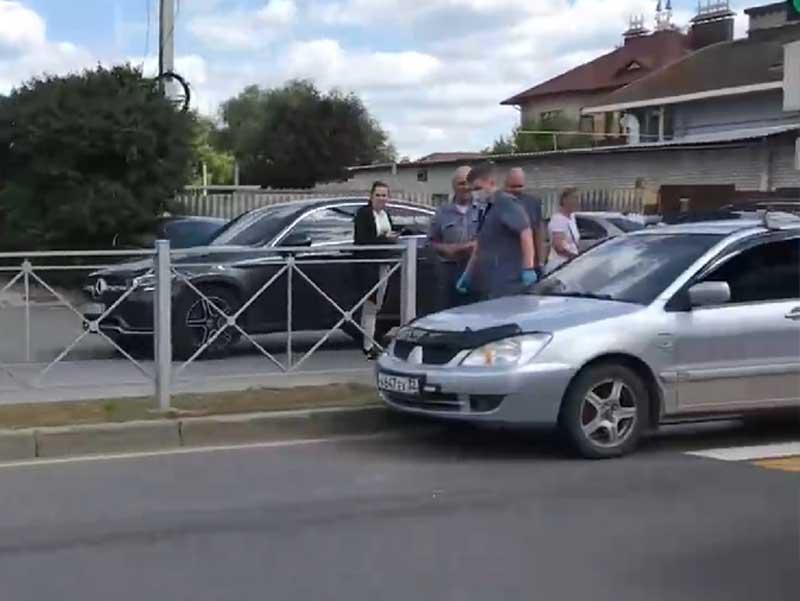 Брянске сняли на видео ДТП на улице Пересвета