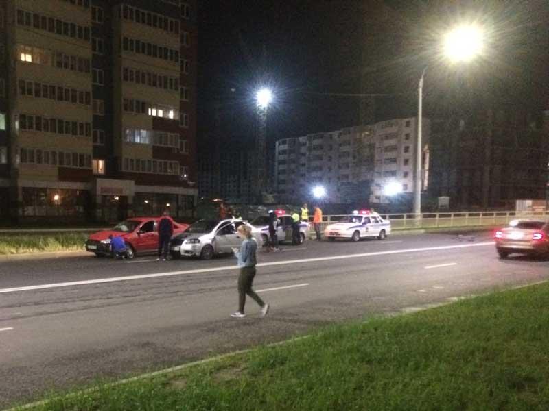 В Брянске на строящейся улице Советской произошло первое ДТП