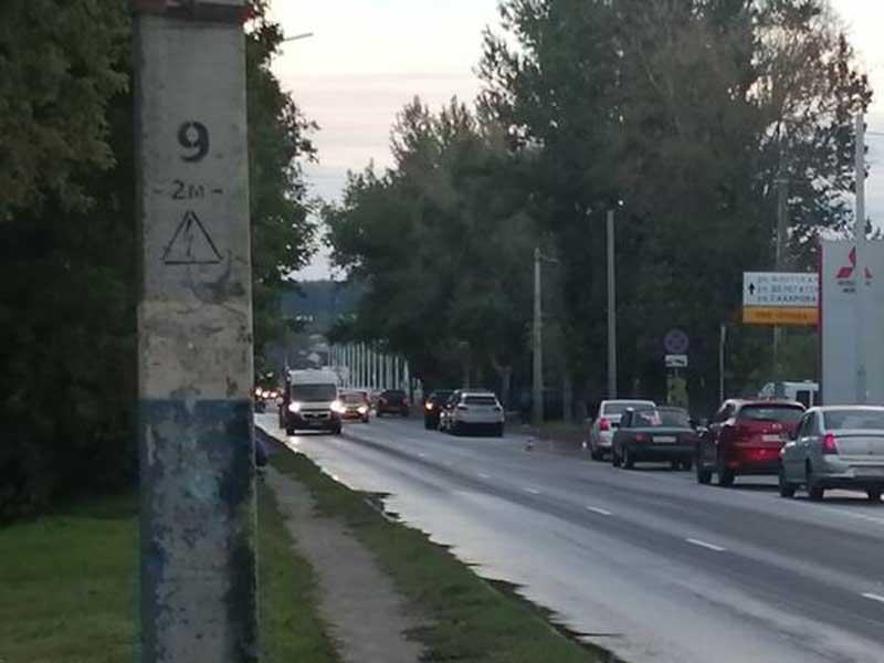 В Брянске на улице Литейной произошла массовое ДТП