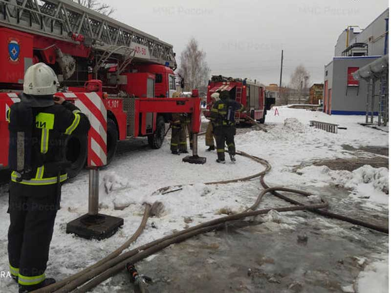 В Брянске сгорела одноэтажная пристройки на улице Щорса