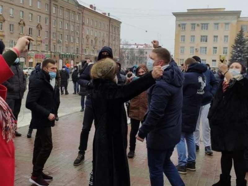 В Брянске появились первые задержанные из-за несанкционированного митинга 23 января