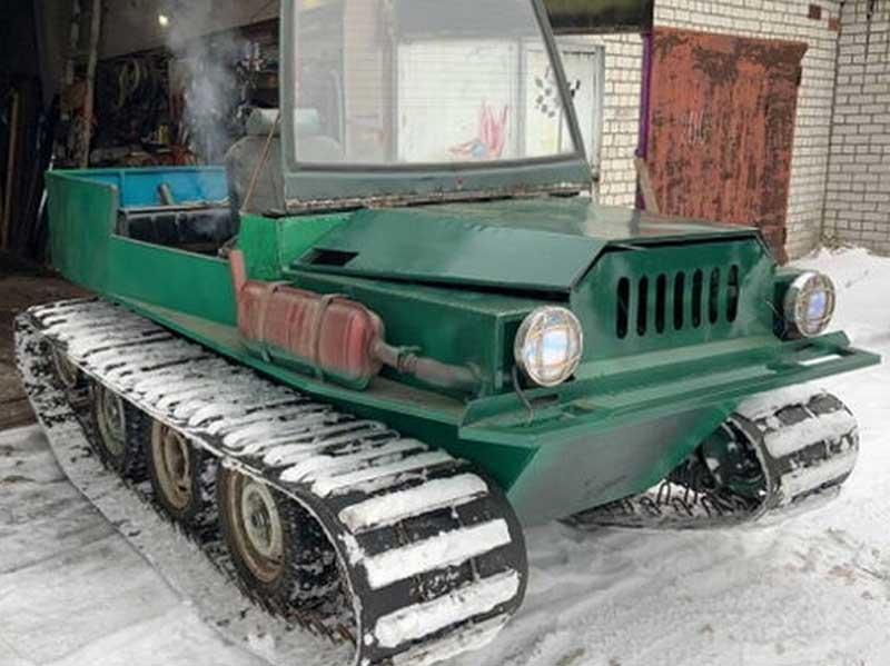 Брянский умелец сделал в гараже вездеходный автомобиль