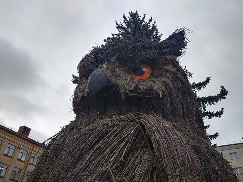 Перо из жёпы совы по-брянски